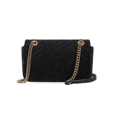mamont velvet bag black